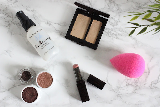 September Favourites - Colourpop eyeshadows, L'oreal lacquer liner, Bumble & Bumble Thickening Spray, Laura Mercier Secret Camouflage, Laura Mercier Lip Parfait in Ameretto Swirl, Beauty Blender
