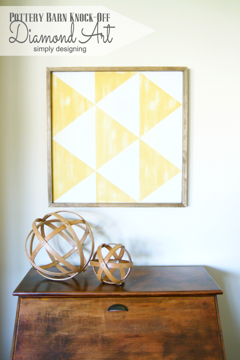 PB Knock-Off Diamond Art | you'll be amazed at how simple this is to recreate for a fraction of the cost!  Come and check it out, and pin for later!  | #knockoff #knockoffdecor #wallart #homedecor #pbknockoff