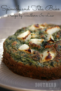 Healthy Gluten Free Spinach Feta Bake Recipe