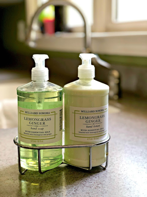 Williams Sonoma Lemongrass Ginger Hand Soap and Lotion Kitchen Caddy