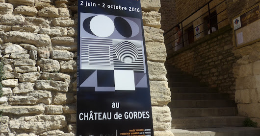 Vasarely Exhibition in Gordes Summer 2016