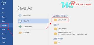 Cara cepat merubah word ke pdf dengan mudah