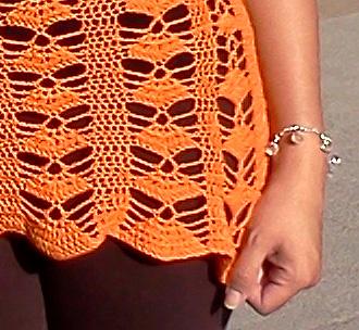 Polera Calada patrón de abanico a crochet 73411c9fc7be