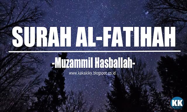 Fatihah yakni surah yang diturunkan di Mekkah dan terdiri dari  Alquran Pramuka - Bacaan Merdu Al-Quran Surah Al Fatihah Dan Artinya | Muzammil Hasballah
