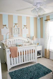 dormitorio bebé celeste y gris