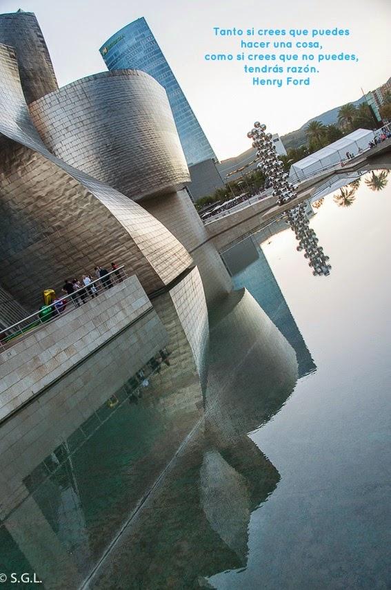 Vista del museo Guggenheim de Bilbao