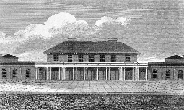 The Pump Room and New Baths at Leamington Prior  from A Guide to all the Watering and Sea-bathing Places by John Feltham (1815)