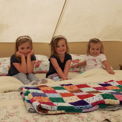 All cosy inside our bell tent