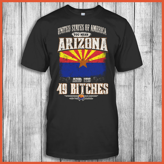 United States Of America You Mean Arizona And Its 49 Bitches T-Shirt
