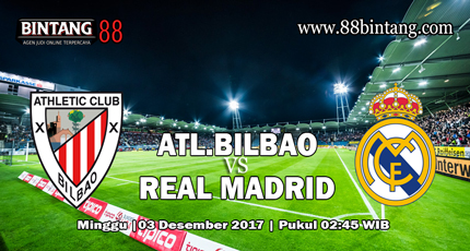 Prediksi Athletic Bilbao vs Real Madrid 3 Desember 2017