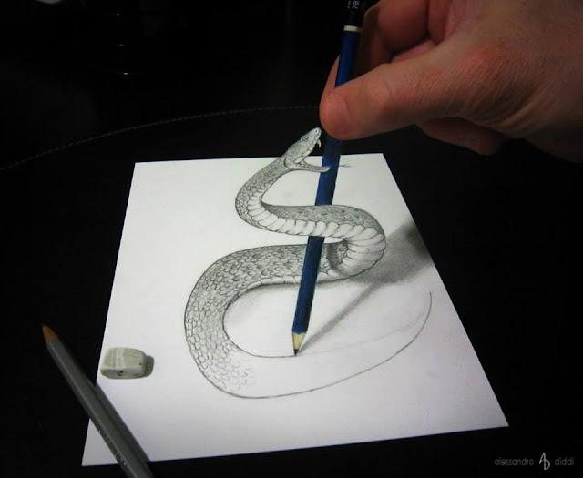 ilusi gambar tiga dimensi yang keren dan menakjubkan serta kreatif-29