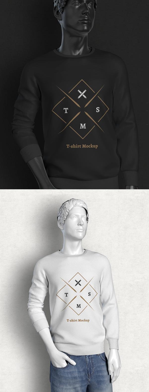 Mockup terbaru 2017 gratis - Free Long Sleeve T-shirt Mockup