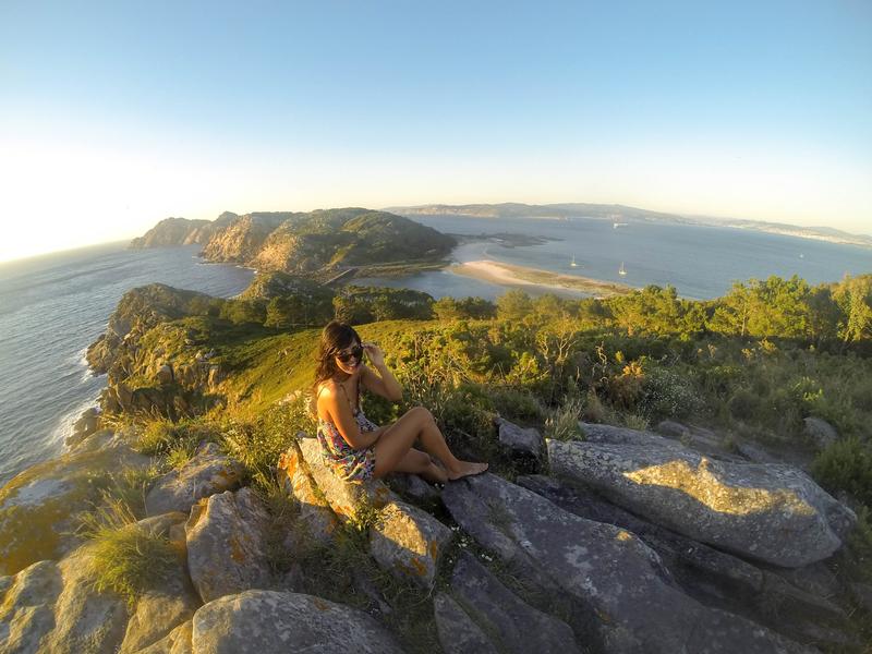 Vistas panorámicas desde Monte Faro en Islas Cíes