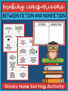 This subscriber exclusive resource is great for helping students compare and contrast fiction and nonfiction. Check out this post on narrative elements using the book Thank You Mr. Falker.