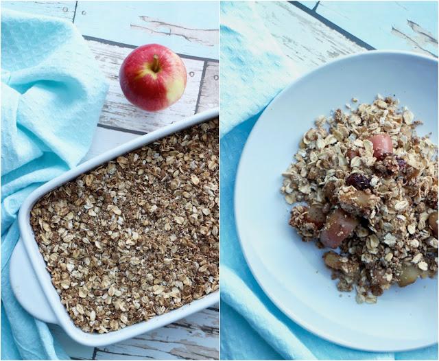 Vegan cinnamon apple crumble recipe