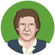 Star Wars: Episodio VI - El regreso del Jedi, 1983: HAN SOLO: Un miembro de una alianza rebelde encargada de desactivar los escudos.