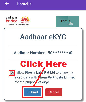 how to do phonepe app ekyc