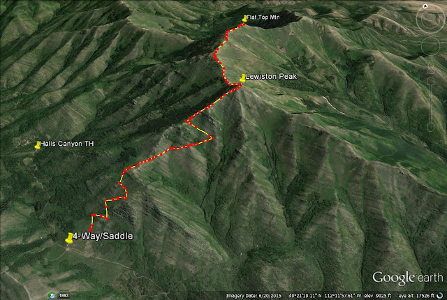 Hiking to Flat Top Mountain, Oquirrh Mountains trail map