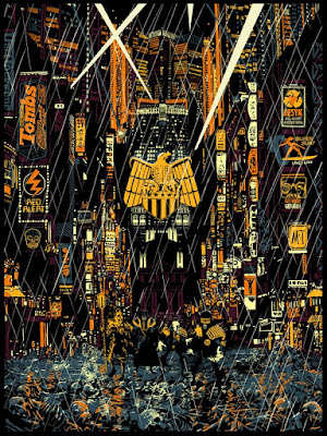 "2000 AD Mega City Series ""Countdown to Necropolis"" Standard Edition Screen Print by Raid 71 & Vice Press"