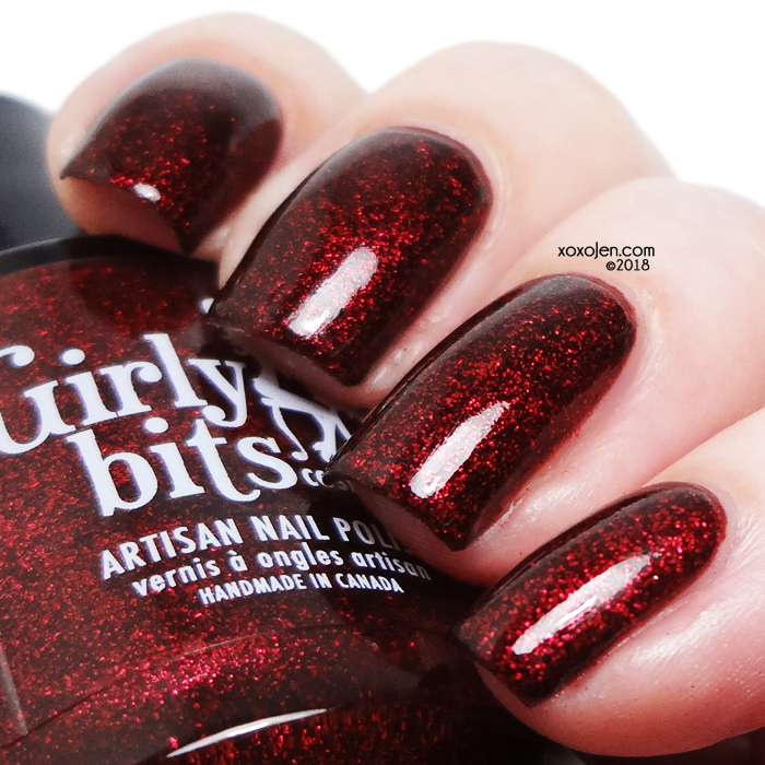 xoxoJen's swatch of Girly Bits COTM: January 2019 Red Velvet