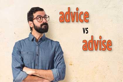 perbedaan advice dengan advise