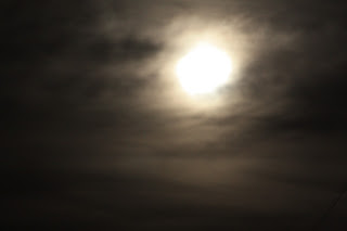 Hazy Super Moon.
