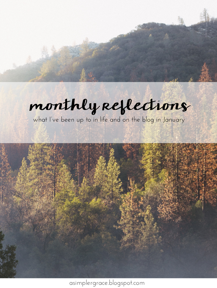 What I'm currently up to in life and on the blog. #currently #takingstock #monthlyreflections - Monthly Reflections | January - A Simpler Grace