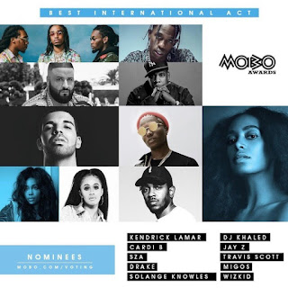 2017 MOBO AWARDS BEST INTERNATIONAL ACT NOMINEES