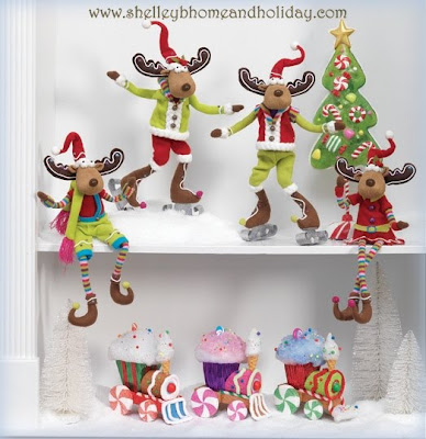 candy themed Christmas decorations available to purchase at shelleybhomeandholiday.com