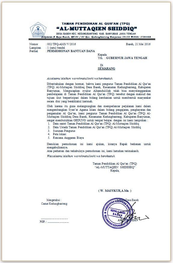 Contoh Proposal Pengajuan Dana Pdf