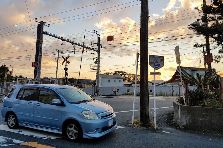 日落的鐮倉街景