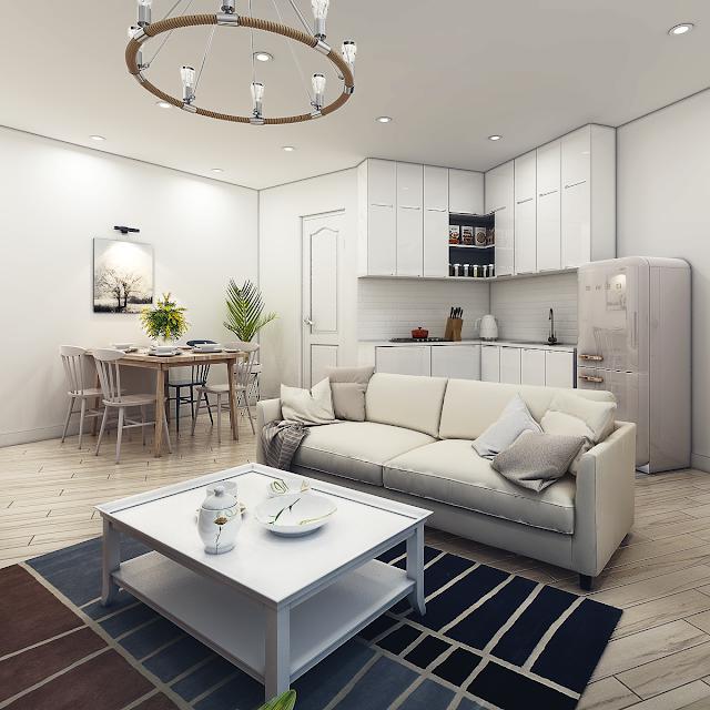 Thiết kế phòng khách của Samsora Premier