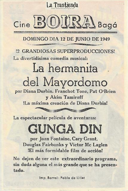 Gunga Din - Programa de Cine - Cary Grant - Joan Fontaine - Douglas Fairbanks Jr.