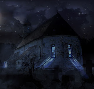 old church at night