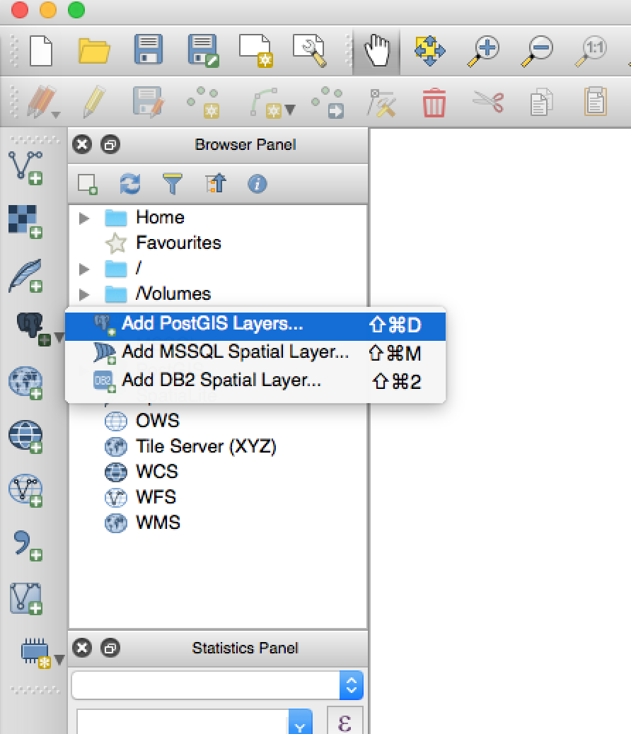 How to integrate QGIS with postgreSQL by using postGIS extension