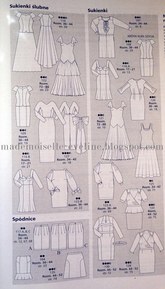 da456d8d98 Kilka propozycji z Burdy na marzec 2014  W numerze są też wykroje na suknie  ślubne ...