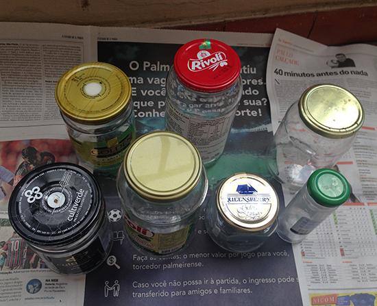 porta condimentos, porta temperos, reciclagem de potes, reciclagem de vidro, upcycling, faça você mesmo, diy, vidros reciclados