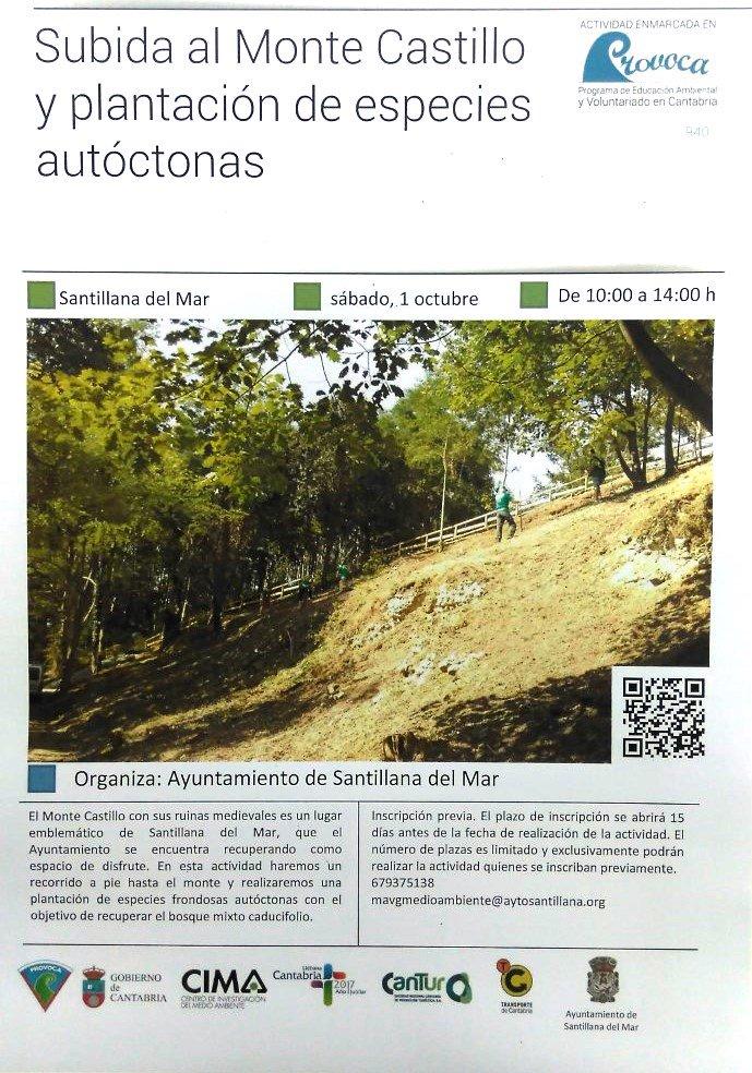 Subida al Monte Castillo y plantaci�n de especies aut�ctonas