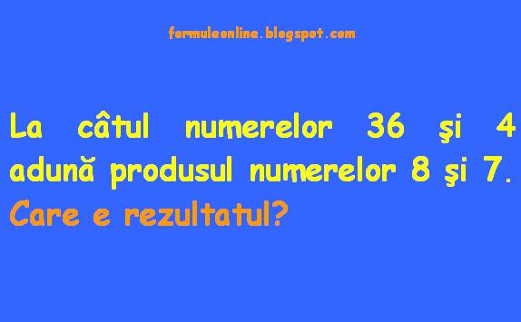 ghicitori matematica