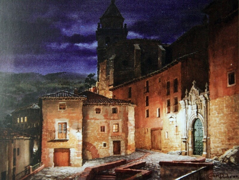 04-Abel-Puche-Watercolor-Paintings-of-the-City-at-Night-www-designstack-co