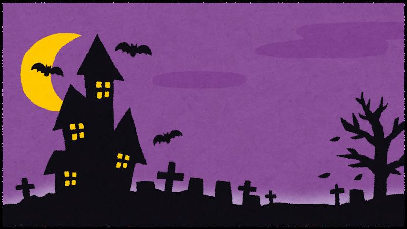 ハロウィンの背景素材(紫)