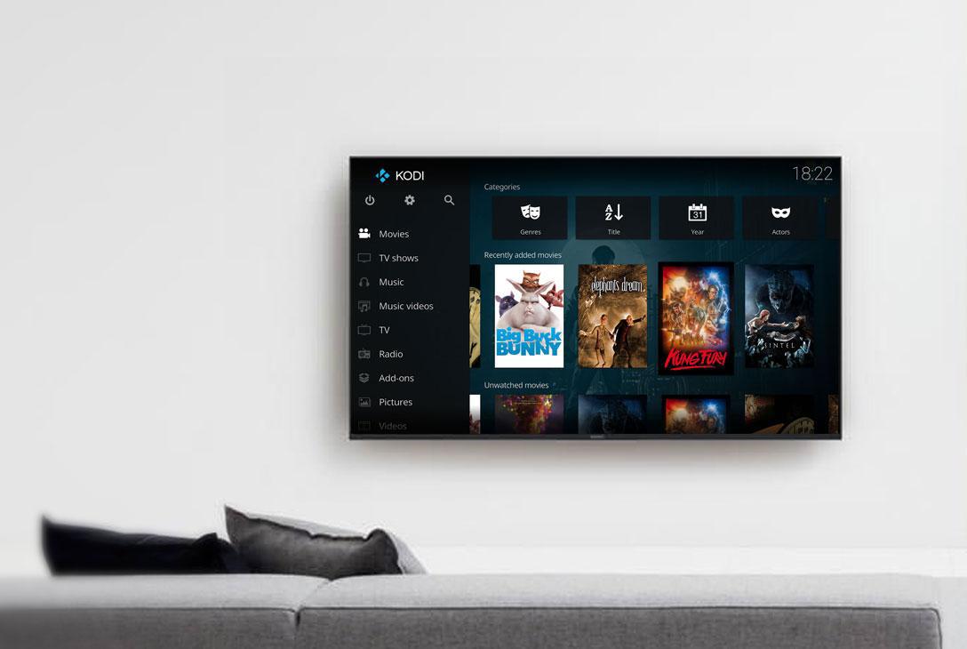 Smart TV powered by Kodi