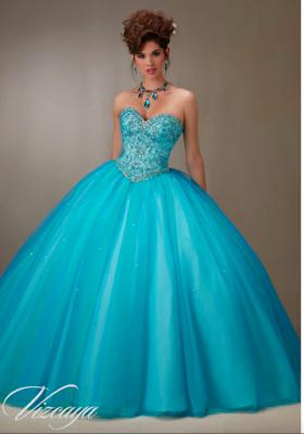 Vestidos de 15 Años Azul Turquesa para quinceañeras