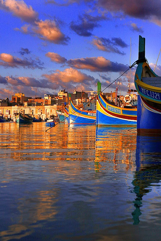 Maltese boats  10 Most Beautiful Island Countries in the World