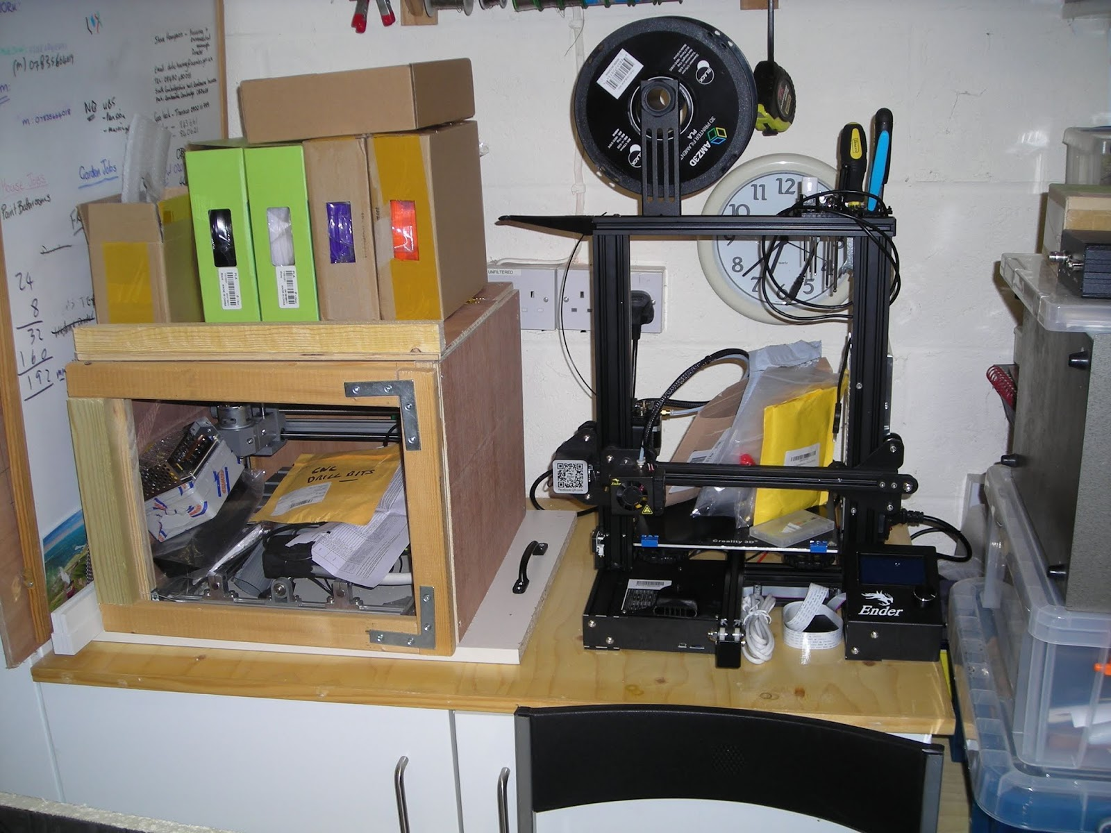 M1KTA's QRP ham radio blog: 3D Printer/CNC reorg