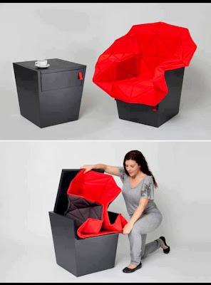 Rekaan Moden Kerusi & Meja yang Kreatif - kerusi sebuah meja