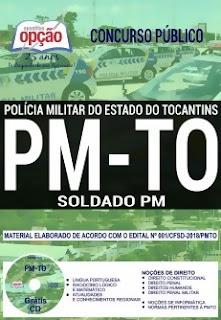 Apostila Concurso PM-TO 2018 Soldado PM