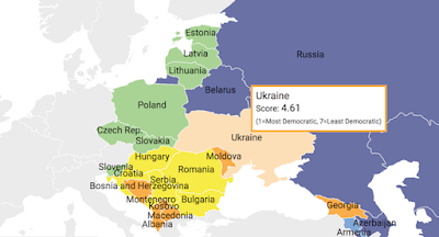 Украина ухудшила позиции в рейтинге развития демократии