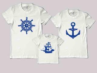 Kaos Couple Family keluarga pelaut nahkoda jangkar kapal