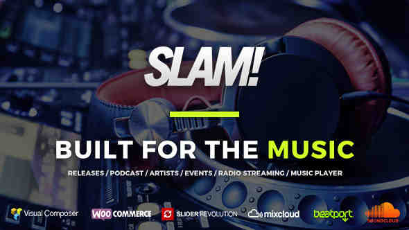 SLAM! v3.4.0 – Music Band, Musician and Dj WordPress Theme Nulled